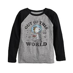 f6aa0e02ab1137 Boys 4-12 Jumping Beans® Peanuts Snoopy  Out of this World  Raglan