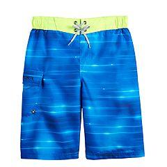 8eabbd3f66 Boys 8-20 ZeroXposur Blue Ray Swim Trunks