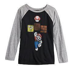 Boys 4-12 Jumping Beans® Mario Bros. Jump Raglan Tee