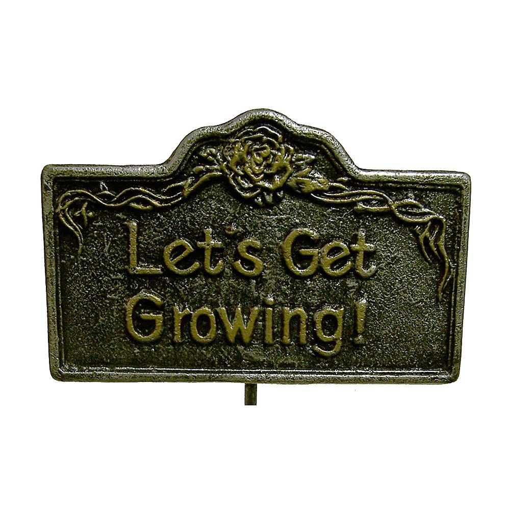"Oakland Living ""Let's Get Growing!"" Garden Marker - Outdoor"