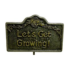 Oakland Living 'Let's Get Growing!' Garden Marker - Outdoor