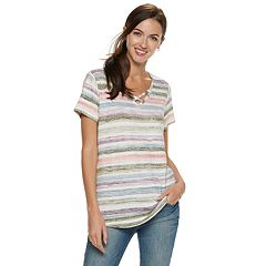 Women's SONOMA Goods for Life™ Supersoft Crisscross Tee