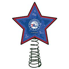 Philadelphia 76ers Mosaic Christmas Tree Topper