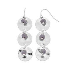 Disc Linear Drop Earrings