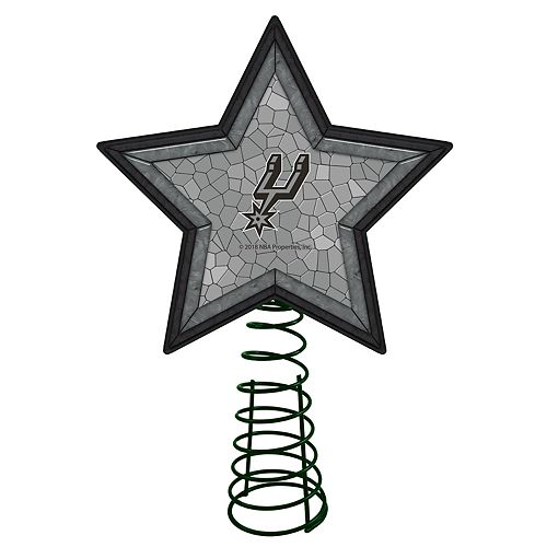 Christmas Tree San Antonio: San Antonio Spurs Mosaic Christmas Tree Topper