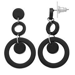 TREND Double Hoop Drop Earrings