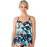 Women's Croft & Barrow® V-Neck D-Cup Tankini Top