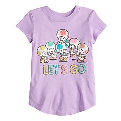 Toddler Girl Jumping Beans® Nintendo Super Mario Bros. 'Let's Go' Toads Tee
