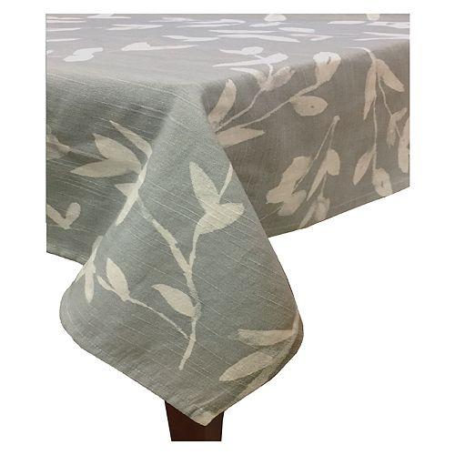 Food Network™ Gray Leaf Print Tablecloth