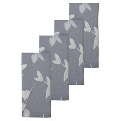 Food Network™ Gray Leaf Print Napkin 4-pk.