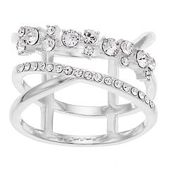 Brilliance Silver Ring with Swarovski Crystals