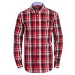 Boys 8-20 Chaps Plaid Button-Down Shirt