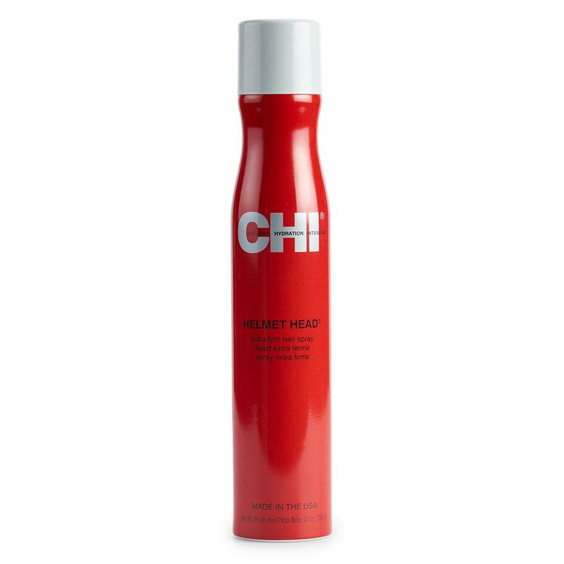 This CHI hair spray is extra firm and fast drying. It Protects against wind, moisture and humidity. Creates voluminous, full bodied looks Suitable for all hair types 10 oz. HOW TO USE Hold can 10 -12 inches away from hair. On damp hair, use spray for direction and lift. Due to its contents, this product cannot be shipped via our Priority Service or sent to Alaska, Hawaii, and/or APO/FPO military addresses. Size: One Size. Color: Multicolor. Gender: female. Age Group: adult.