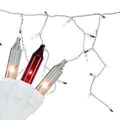 Northlight Seasonal 150 Red & Clear Mini Icicle Christmas Lights