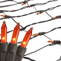 Northlight Seasonal Orange Mini Mesh Net Christmas Lights