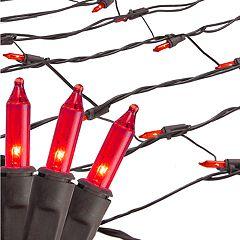 Northlight Seasonal Red Mini Mesh Net Christmas Lights