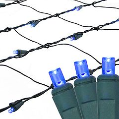 Northlight Seasonal Blue LED Mesh Net Christmas Lights