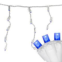 Northlight Seasonal 100 Blue LED Wide Angle Icicle Christmas Lights