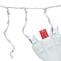 Northlight Seasonal 100 Red and White LED Wide Angle Icicle Christmas Lights