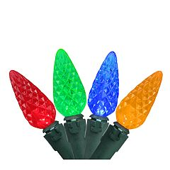 Northlight Seasonal 70 Multi-Color Faceted LED C6 Christmas Lights