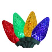 Northlight Seasonal 100 Multi-Color Faceted LED C9 Christmas Lights