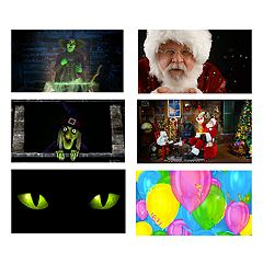 Northlight Seasonal Window Display Christmas & Halloween FX Mini Projector Kit