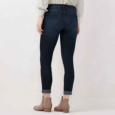 Petite LC Lauren Conrad Cuffed Skinny Ankle Jeans