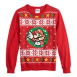 Boys 8-20 Super Mario Bros. Fairisle Christmas Sweater
