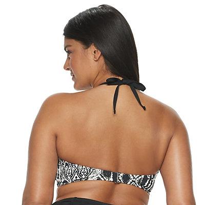 Plus Size Apt. 9® Strappy-Front Halter Bikini Top