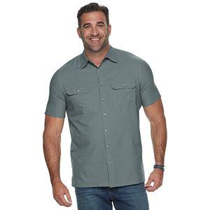 Big & Tall Croft & Barrow® Classic-Fit Plaid Quick-Dry Dobby Button-Down Shirt