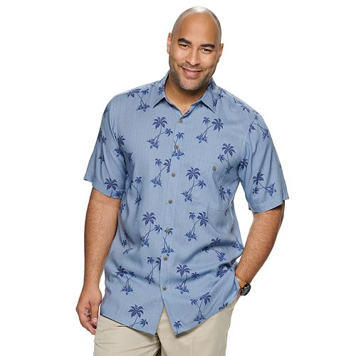 Big & Tall Batik Bay Patterned Button-Down Shirt