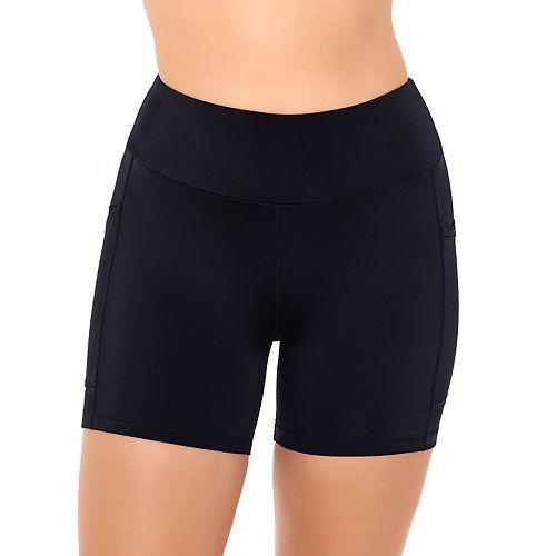Women's Croft & Barrow® Mid-Thigh Fitted Swim Shorts