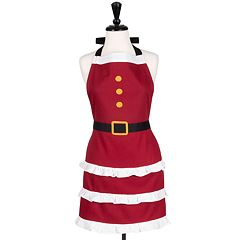 KAF HOME Christmas Holiday Mrs. Claus Queen Apron