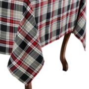 KAF HOME Holiday Cottage Plaid Tablecloth