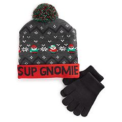 Boys 4-20 Gnome Hat & Gloves Set