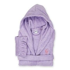 Linum Home Textiles Turkish Cotton Kid s Personalized Terry Ruffle Hooded  Bathrobe 5f6ed3d32