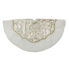 Northlight Seasonal 48-in. Gold & Silver Velveteen Christmas Tree Skirt
