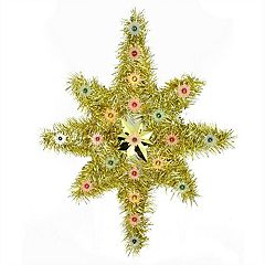 Northlight Seasonal 21-in. Indoor Pre-Lit Tinsel Star Christmas Tree Topper