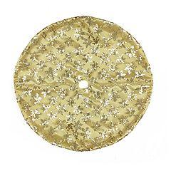 Northlight Seasonal 20-in. Gold Sequin Snowflake Christmas Tree Skirt