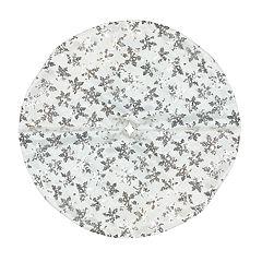 Northlight Seasonal 20-in. Silver Sequin Snowflake Christmas Tree Skirt