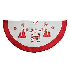 Northlight Seasonal 33-in. Fairisle Santa Snowman Christmas Tree Skirt