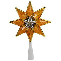 Northlight Seasonal Pre-Lit Gold Star Christmas Tree Topper