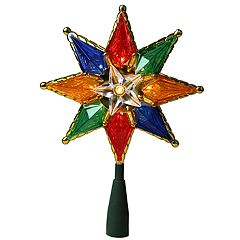 Northlight Seasonal Pre-Lit Multi-Colored Star Christmas Tree Topper
