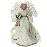 Northlight Seasonal Pre-Lit Fiber Optic Glitter Angel Christmas Tree Topper