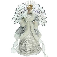 Northlight Seasonal Pre-Lit Fiber Optic Traditional Angel Christmas Tree Topper