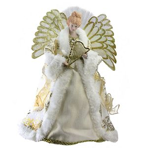 Northlight Seasonal Pre Lit Fiber Optic Glitter Angel Christmas Tree Topper