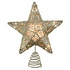 Northlight Seasonal Pre-Lit Gold Finish Star Christmas Tree Topper