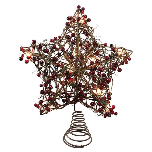 Northlight Seasonal Pre Lit Rustic Star Christmas Tree Topper