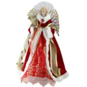 Northlight Seasonal Pre-Lit Fiber Option Faux-Fur Angel Christmas Tree Topper