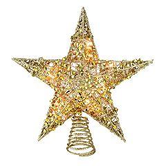 Northlight Seasonal Pre-Lit Glitter Sequin Star Christmas Tree Topper